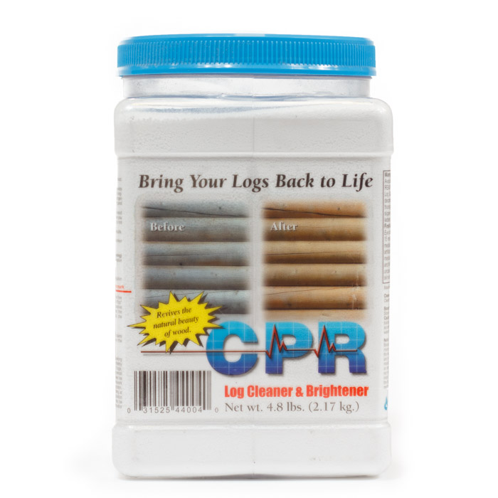CPR Log Cleaner, Sashco CPR Log Cleaner, CPR Log Cleaner by Sashco, Sashco log cleaner, sashco log brightener, log cabin care, log home care, log cabin home care, maintenance products, log restoration, log maintenance