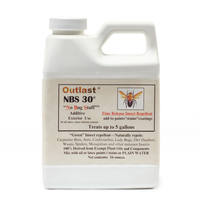 NBS 30, Outlast NBS 30 Bug Repellent, Log Cabin Care, Log cabin insect repellent, log home insect repellent, log cabin home insect repellent, nbs 30 insect repellent, Outlast NBS 30